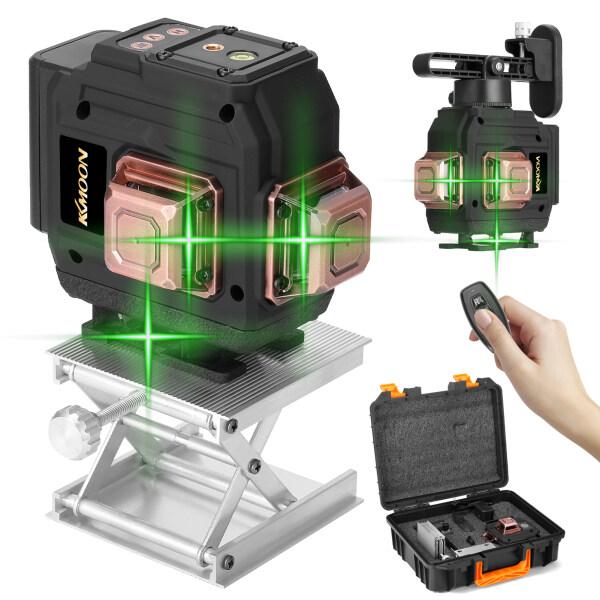 Dụng Cụ Cấp Độ Laser 12 Đường 3D Đa Năng, Dọc Đường Ngang Với Chức Năng Tự Cân Bằng