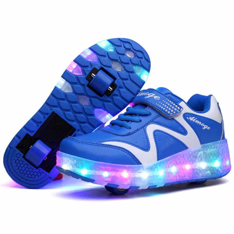 Phân phối Moven Giày Có Cho Bé Gái Bé Trai Trẻ Em LED Nhấp Nháy Thể Thao Giày Sneaker Có Bánh Xe