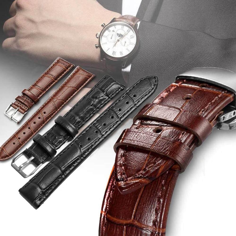 longzhu1 16mm 18mm 20mm 22mm Universal Soft Vintage Genuine Leather Sports Belt Watch Band Strap Sweatband Wrist Watchband Malaysia