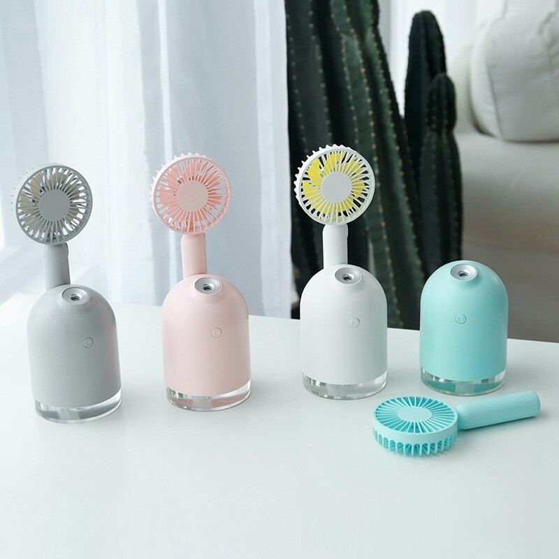 2000 Mah Battery Fan With Air Humidifier Usb Aroma Essential Oil Diffuser Portable Table Fan