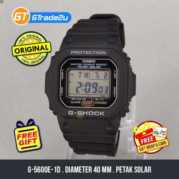 Casio G-Shock Men G-5600E-1D G-5600E-1 G5600E-1D Digital Petak Tough Solar Watch Black Resin Band G Shock . watch for man . jam tangan lelaki . casio watch for men . casio watch . men watch . watch for men [READY STOCK] Malaysia
