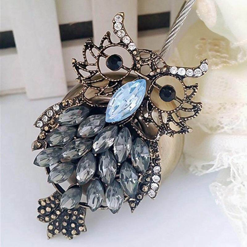 Darahry 1Pc Owl Rhinestones Magnet Curtain Tieback Window Screen Curtain Clip Holder Magnetic Curtains Buckle Holdbacks Accessories-In Curtain Decorative Accessories