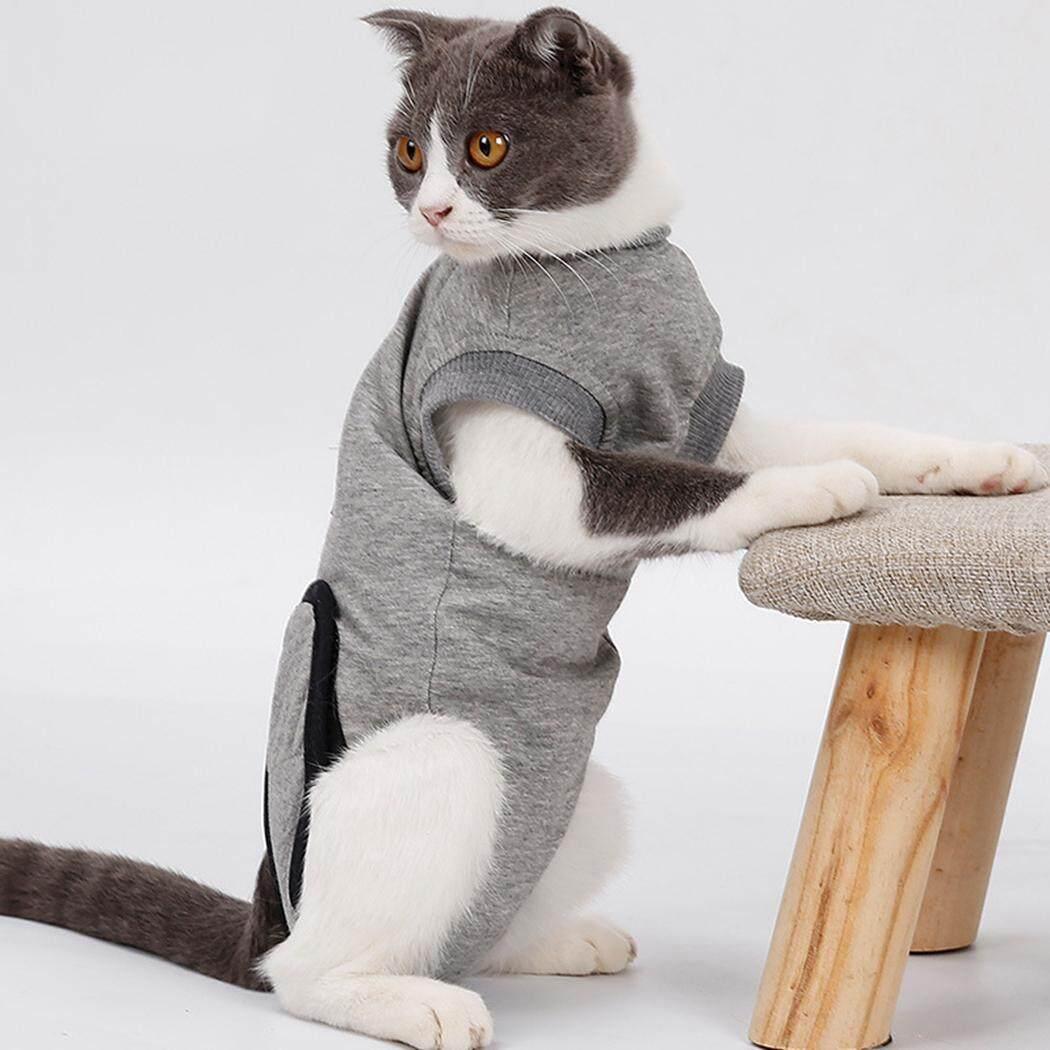 Phục hồi Bộ Đồ Thun Cotton Mềm Mại Bảo Vệ Thú Cưng Phù Hợp Với Quần Áo Thú Cưng cho Mèo, S - 5