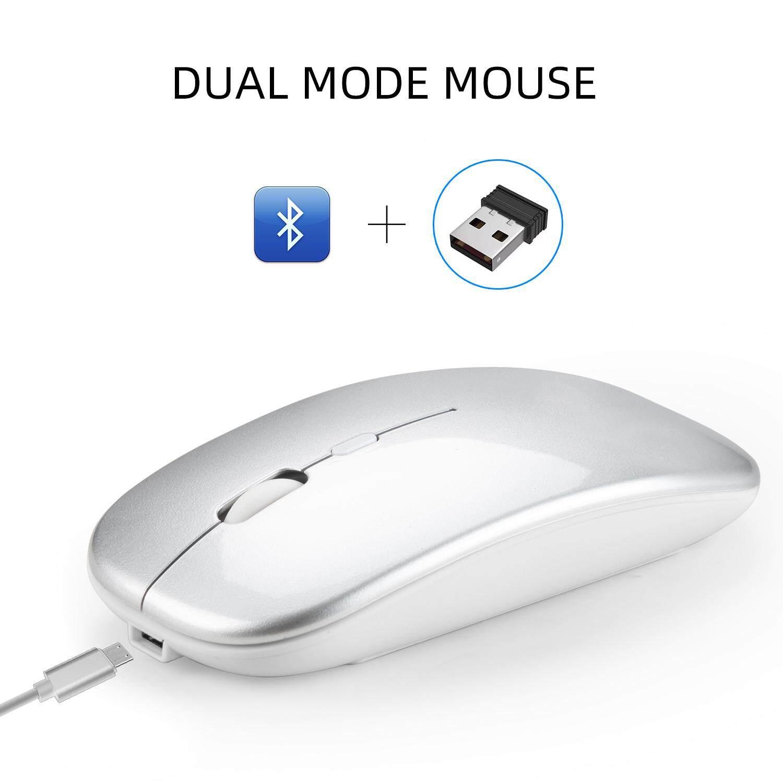 Giá VD Hai Chế Độ Bluetooth 4.0 + 2.4G Không Dây Tắt Tiếng Chuột Máy Tính Dành Cho Máy Tính Laptop