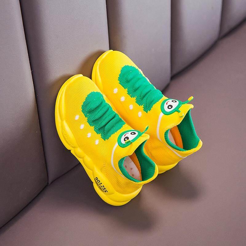 Trẻ Em Size 21-32 Giày Cao Su Cho Bé Gái Bán Đen Trường Giày Trẻ Em Bé Gái Giày dành Cho Trẻ Em Bé Trai Trẻ Em Thể Thao Sepatu Anak Bayi Laki Laki Sepatu Sekolah Anak Perempuan TK Trẻ Sơ Sinh Giày 11