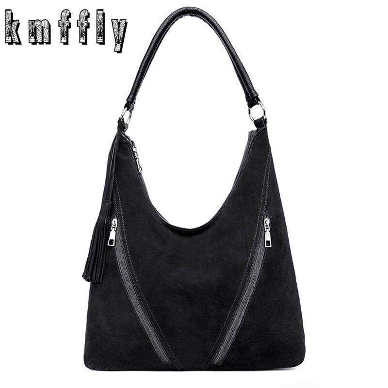 Fashion Tassel Hobo Bag Women Leather Handbags Large Capacity Crossbody Bags For Women 2020 New Faux Suede Messenger Bags Bolsa