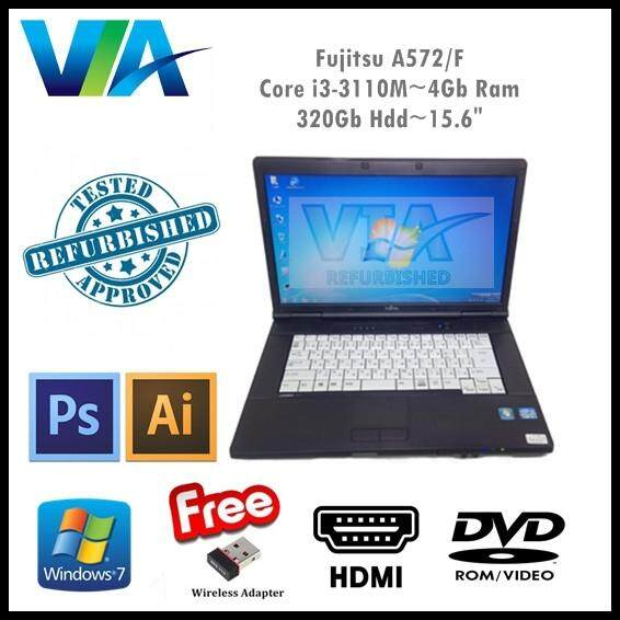 Refurbished Laptop Fujitsu A572/F Core i3~4GB~320GB~Win7 Pro~ Malaysia