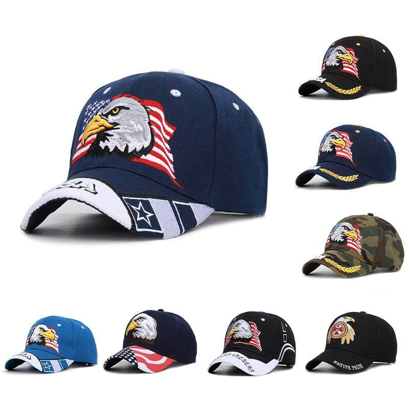 USA American Bald Eagle Flag Embroidered Baseball Cap Hat Premium NEW NEW