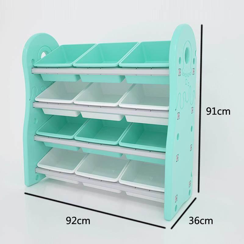 RuYiYu - 92X36X91cm, Book Racks Bookshelf Childrens Toys Mini Multi-Function Plastic Box, Kids Toy Organizer and Storage Bins, 12-Bins in Fun Colors, Toy Storage Rack