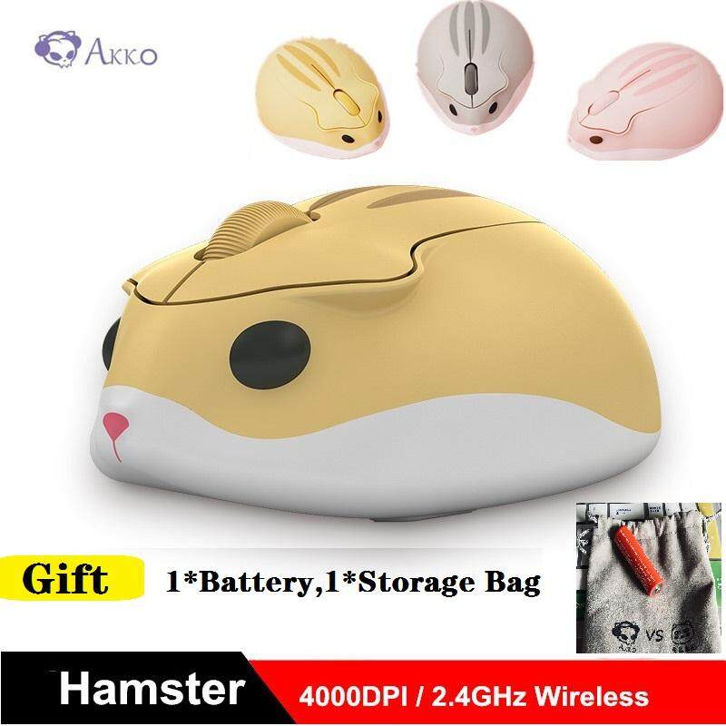 AKKO WAIGUACP Hamster 2.4GHz Wireless Mouse 4000DPI For PC Comfortable Hand Feel