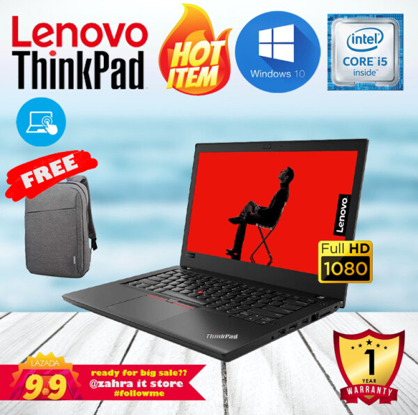 LENOVO THINKPAD T460 TOUCHSCREEN [CORE i5-6300U / 8GB DDR4 RAM / 256GB SSD] FHD IPS DISPLAY / ULTRABOOK / WINDOWS 10 [BOXPACKED REFURBISHED] Malaysia