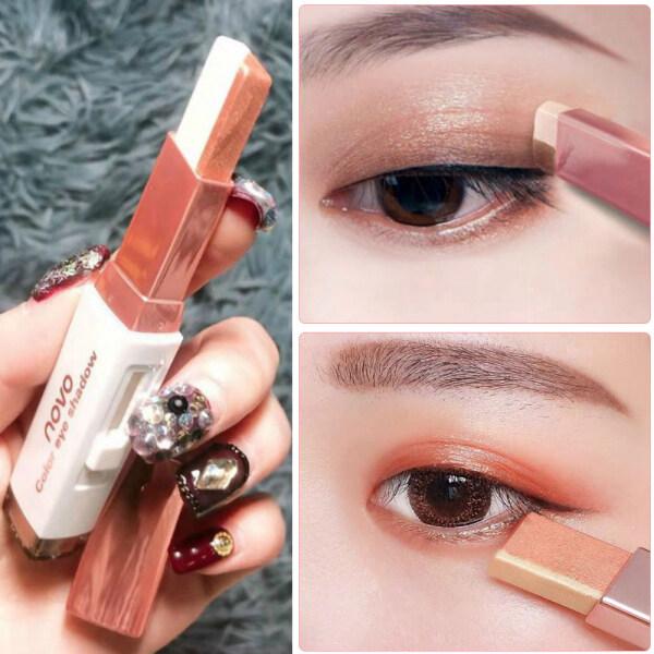Thỏi phấn mắt 2 màu dạng kem chất kem lấp lánh không thấm nước lâu trôi (có nhiều màu khác nhau) - INTL cao cấp