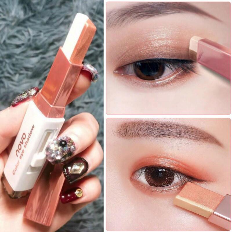 Thỏi phấn mắt 2 màu dạng kem chất kem lấp lánh không thấm nước lâu trôi (có nhiều màu khác nhau) - INTL