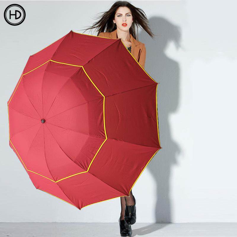 Tri-Fold Double Golf Umbrella, Oversized Windproof Folding Umbrella, Parasol(size: 30 Inches * 10k) By Elephant Trade.