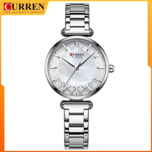 Watches for Women Luxury Brand CURREN Elegant Thin Quartz Wristwatch with Stainless Steel Simple Female Clock 9072 Malaysia