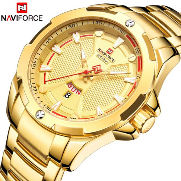 NAVIFORCE Top Luxury Brand Mens Quartz Watch Mens Casual Simple Business Watch Fashion All Steel Mens Waterproof Sport Watch Malaysia