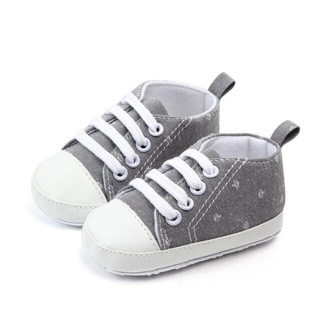 Giày Em Bé In Hình Vương Miện Dễ Thương, Giày Bé Trai Bé Gái Sơ Sinh Cotton Mềm Mại Thường Ngày Giày Tập Đi Cho Trẻ Tập Đi Mùa Thu Mùa Hè Chống Trượt giá rẻ