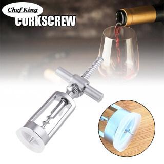Wine Bottle Opener Effortless Manual Bottle Stopper Corkscrew Driller Remover for Kitchen Home Bar thumbnail