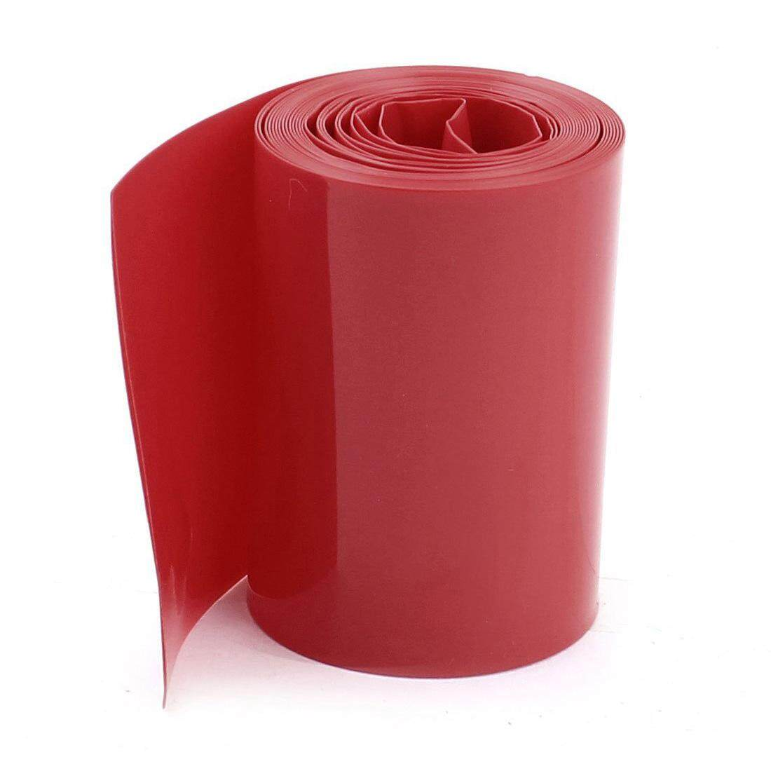 2m 50mm Width Pvc Heat Shrink Wrap Tube Red For 2 X 18650 Battery Flash Deal By Starnet Store.