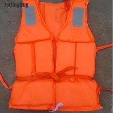 Jettingbuy 1XOrange Ngăn Ngừa Hữu Ích Lũ Lụt Dành Cho Người Lớn Bọt Bơi Áo Phao + Còi