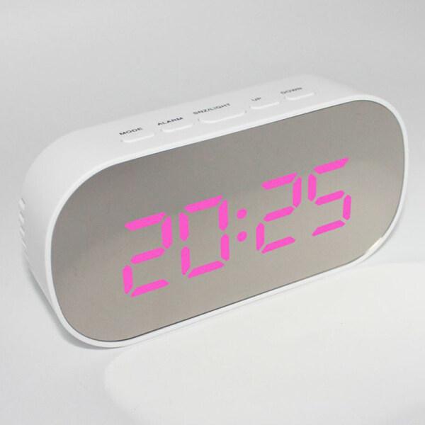 Beauroom Kỹ Thuật Số LED Đồng Hồ Để Bàn Đồng Hồ Báo Thức Hoạt Động Bằng Pin Bề Mặt Gương LED Đa Năng Hiển Thị Đồng Hồ Để Bàn bán chạy