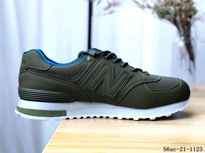NEW BALANCE 574 Resmi Sneakers Pria Hijau Biru Penjualan Global 00d79fbdfd