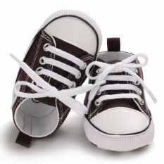 Giày Em Bé Nam Nữ Booties Giường Cũi Trẻ Em Giày Giày Sơ Sinh Mềm Prewalker Trẻ Sơ Sinh Gày Sneaker Vải Bố Camo Ren-Up Tập Đi