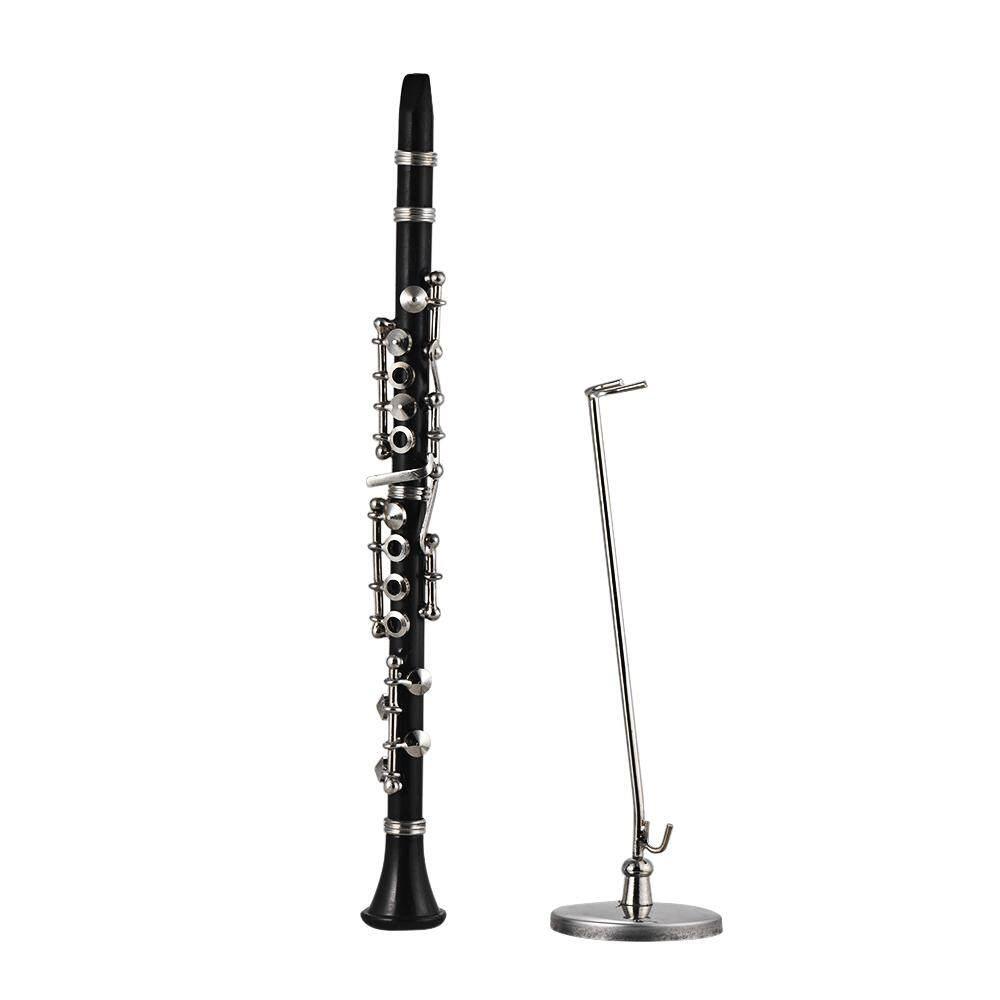 Ưu Đãi Giá cho Mini Clarinet Model Exquisite Desktop Musical Instrument Decoration Ornaments Musical Gift With Delicate Box