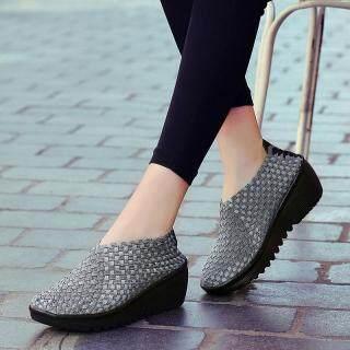 Doreal Mùa Xuân Nữ Nền Tảng Giày Sneakers Nữ Dệt Flat Dày Gót Trơn Trượt Trên Nền Tảng Giày thumbnail