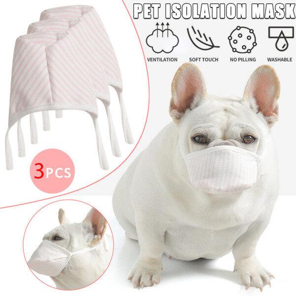 3 Cái Dog Mặt Mềm Bông Miệng Maske Pet Bộ Lọc Hô Hấp Chống Bụi