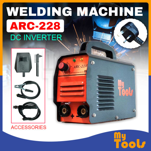 9bday Mytools ARC/MMA-160/ARC 228  Digital Meter Or ARC 228 No Meter 220V Portable Heavy Duty Welding Machine + Free Welding Mask and Chipping Tool For Iron Stainless Steel Carbon Steel Copper - Advanced Inverter Control Technology (Energy Saving)