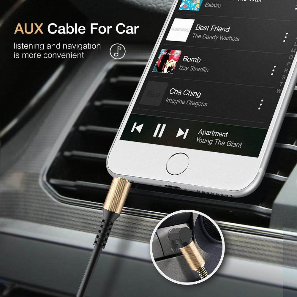 Image 4 for RAXFLY 3.5 มม.สายออดิโอ 3.5 แจ็คต่อแจ็ค AUX หูฟังสายสำหรับ iPhone รถชายชายสายเอยูเอ็กซ์สายสปริง