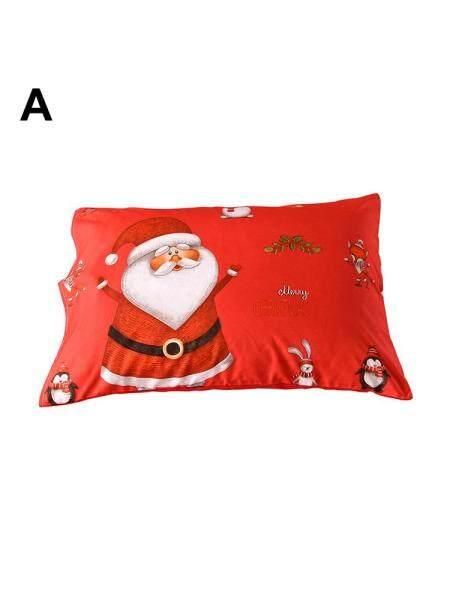 Christmas bedding Santa Claus pattern pillowcase quilt cover