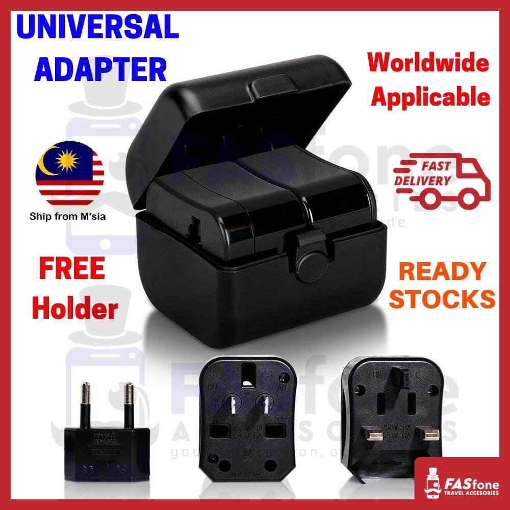 Universal Travel Adapter Worldwide Adaptor Uk Us Eu Au Durable Free Case By Fasfone Accessories.