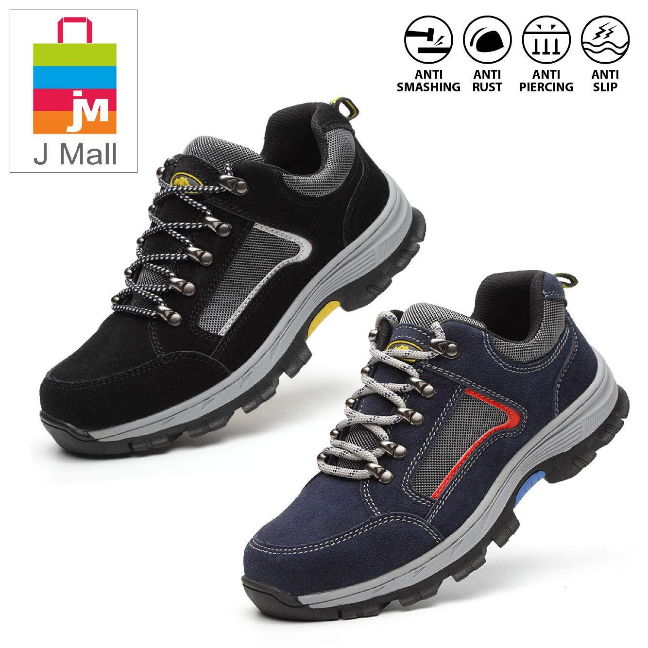 J Mall Fashion Low-Cut Steel Toe Cap Work Safety Shoes 506 - Black / Blue By J Mall.