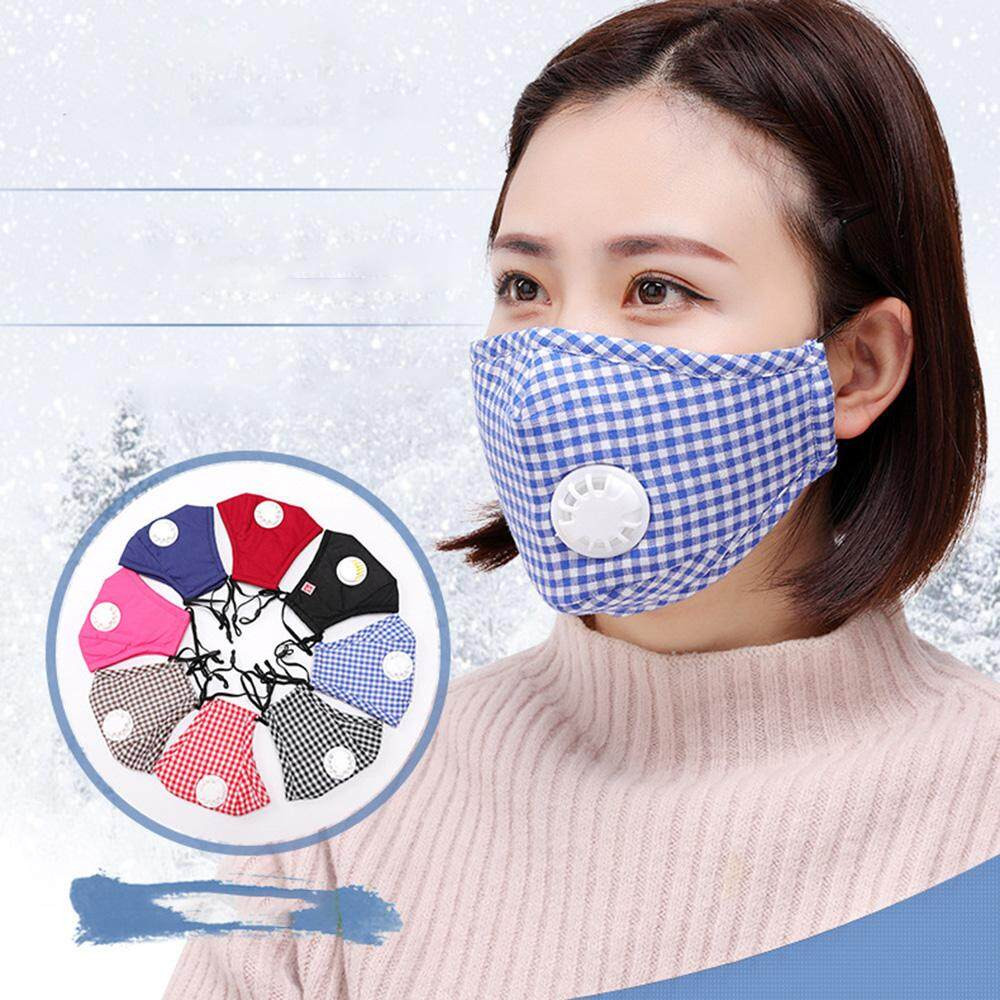 G-PADDY Anti Flu Masks Reusable Cotton Lattice Masks Breathable Air Fog Respirator