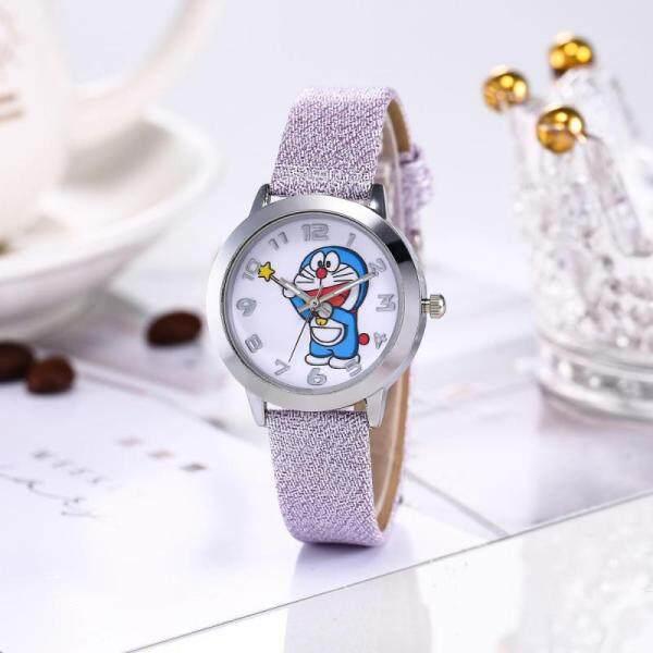 Watch children and boy Kid Watch Doraemon cartoon children cute watch students waterproof leather strap Girls Boys Casual Wristwatch girl and Boy birthday gift Malaysia