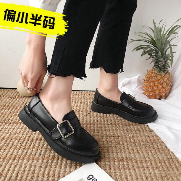♈Nhỏ Màu Đen Giày Tây Nữ Giày Gió Anh Jk 2020 Mùa Đông Xu Hướng Mới Hoài Cổ Cách Ins Giày Lolita Đáng Yêu Cho Giày Nữ giá rẻ
