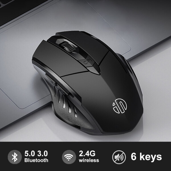 Bluetooth Mouse Wireless 2.4GHz Ergonomic Mice Mouse 4000DPI USB Receiver Optical Computer Gaming Mouse For Laptop PC Malaysia