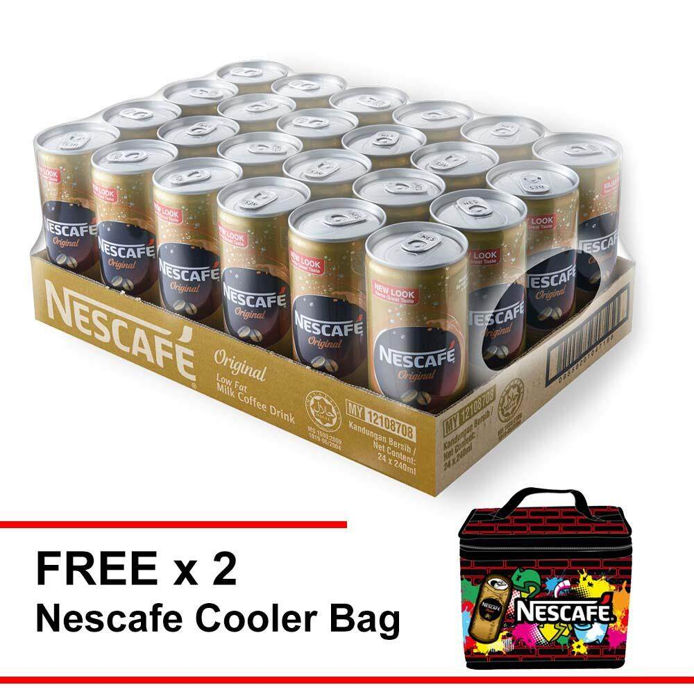 Nescafe Original 240ml , Buy 1 Cartons Free 2 Cooler Bag By Nestle Flagship Store.