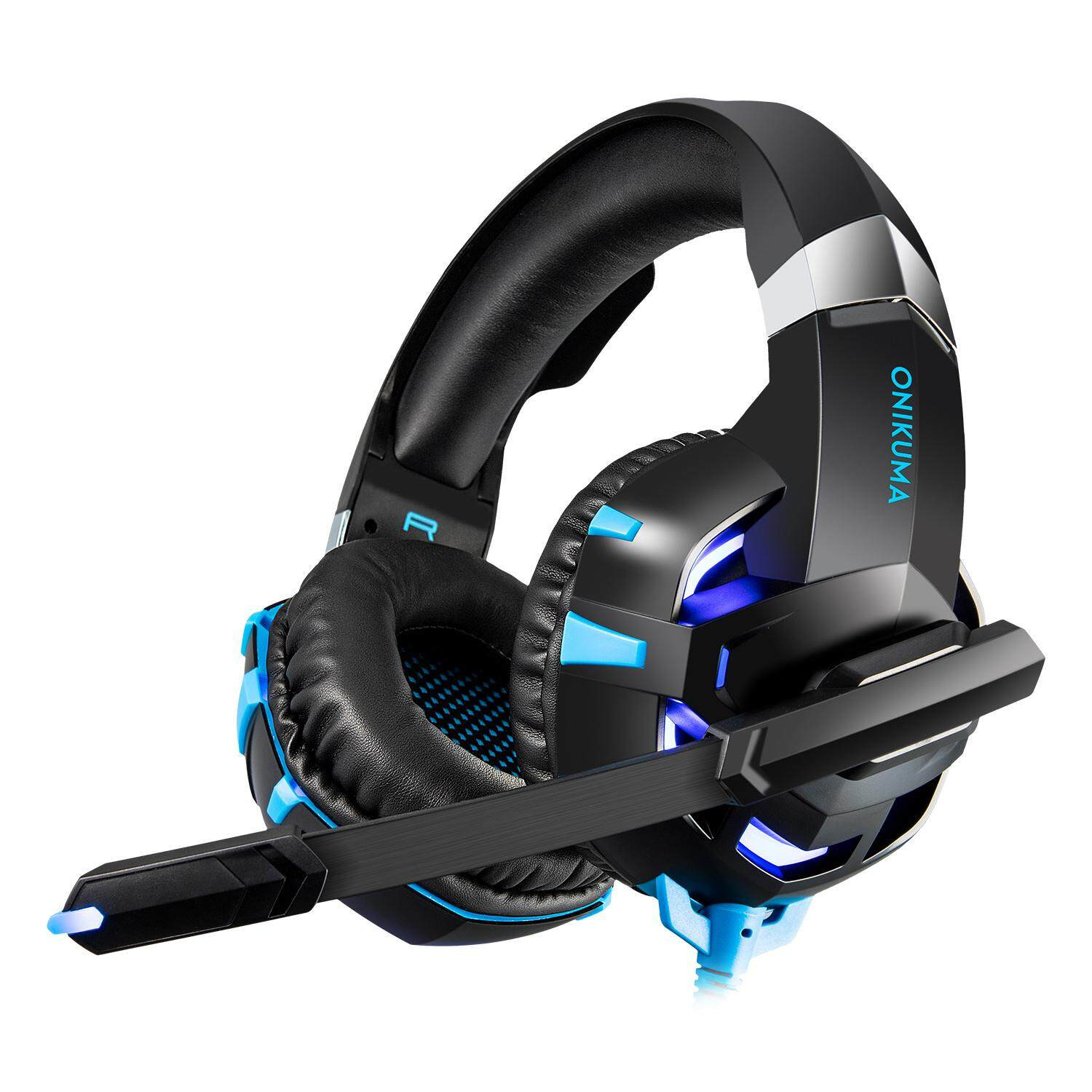 【Free Shipping + Flash Deal】ONIKUMA K2A Gaming Headset Headphone Bass Surround Sound with LED light & Microphone for PC Computer Laptop Tablet Phone