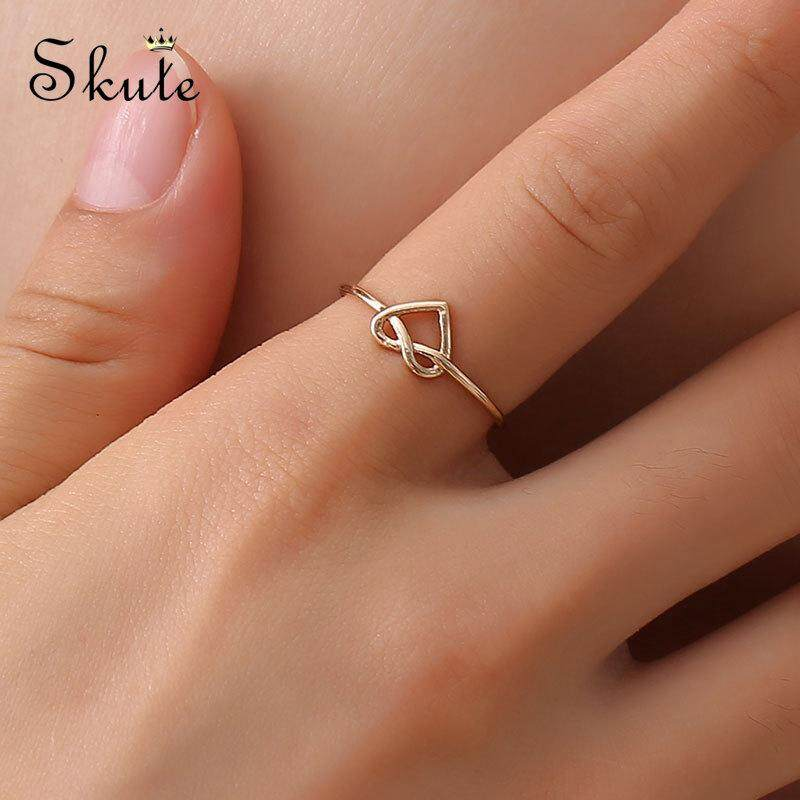 Women Stainless Steel 14K Gold Plated Silver Nail Ring Design Jewelry Gift