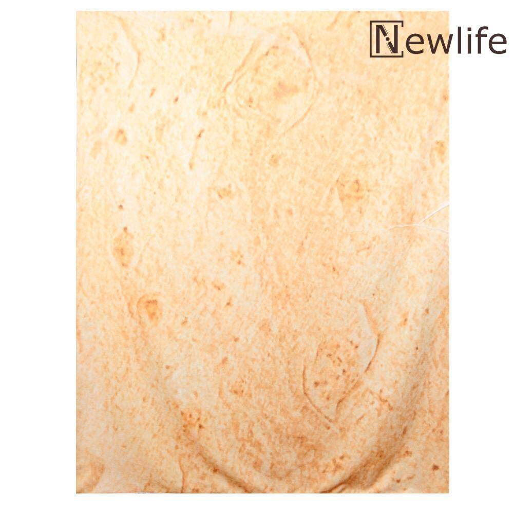 [easygoingbuy] Snack Tortilla Pattern Blanket Square Burrito Shaped for Car Office Quilts