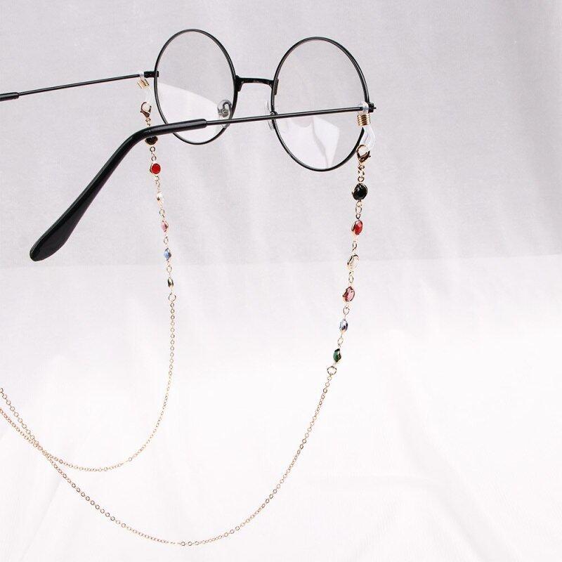 Giá bán Phụ Nữ Mắt Dây Thời Trang Handmade Giả Ngọc Trai Đính Hạt Eyewears Kính Mát Dây Đeo Vòng Cổ Kính Đọc Sách Dây Chuyền Dây
