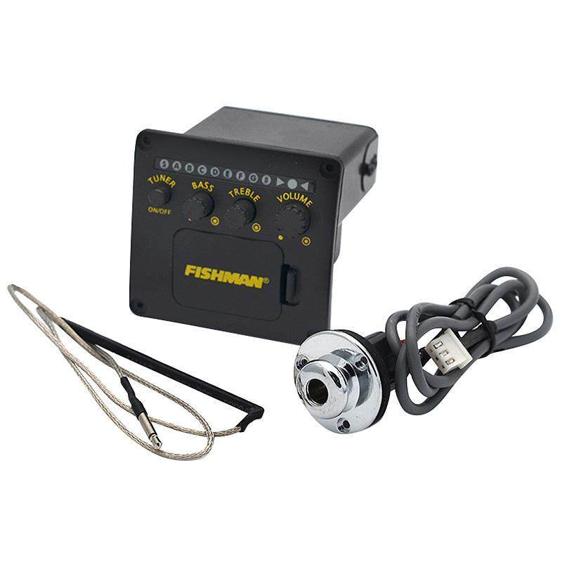 Fishman 2 Bands Equalizer Eq With Tuner For Acoustic Guitar Pickup Black