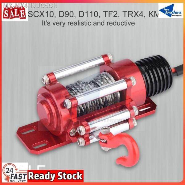 ❆❃  [TwoTraders] Rc Winch For RC CRawler Climbing Cars Electric Metal Winch Nylon with Manual Switch forSCX10 TRAXXAS MN WPL