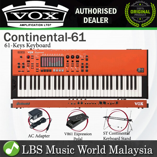 Vox Continental 61-Key Perfomance Organ Keyboard with Virtual Touch Drawbar (Continental61 Continental 61) Malaysia