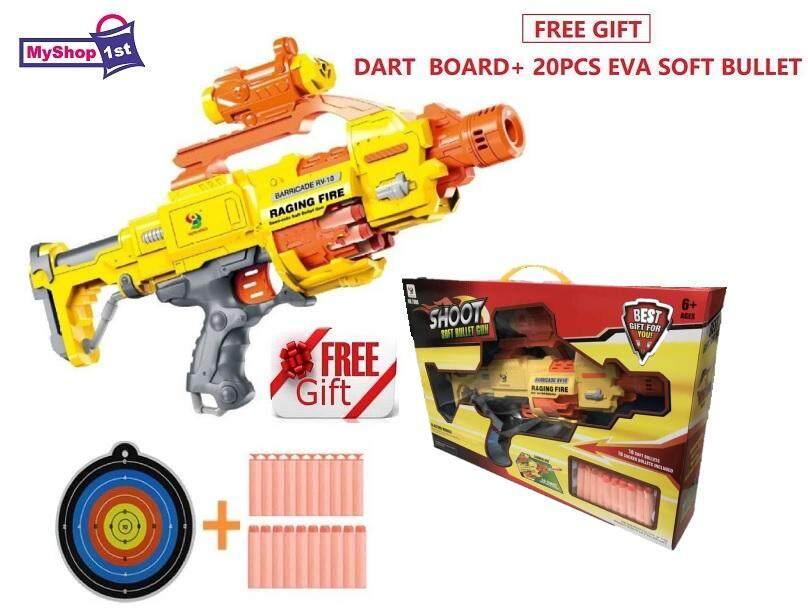 [FREE GIFT] Nerf Type Blaster Electric Soft Bullet Gun + 20 Bullets Gun  Toys (MyShop1st) Toys for boys