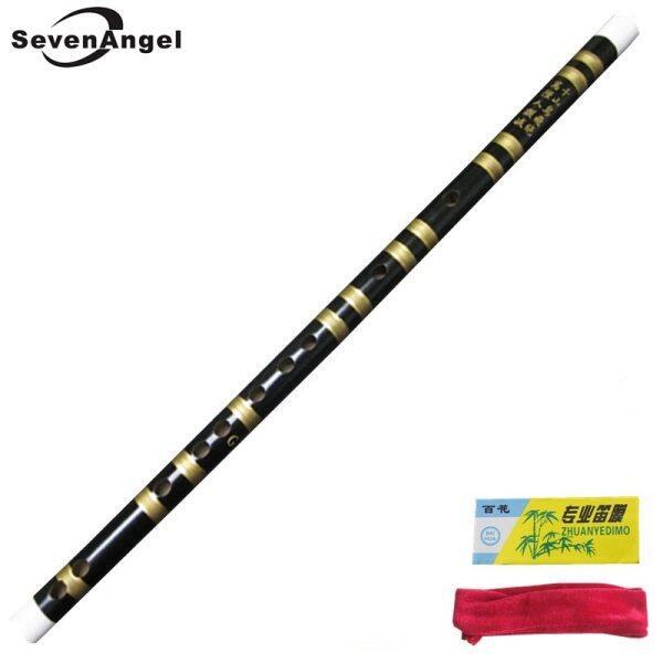 Trung Quốc Bamboo Flute Chảo Dizi Thủ Công Chuyên Nghiệp Flauta Nhạc Cụ Chìa Khóa Của F/ G Sáo Ngang Màu Đen
