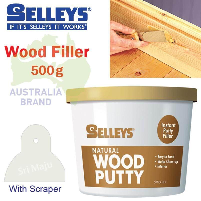 Selleys Wood Filler 500g Ready to use wood crake repair teak natural 0.5kg